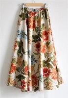 Free Shipping Women Long Skirts Blend Linen Long Shirt Casual Skirt Spring Summer Skirts Chinese Style