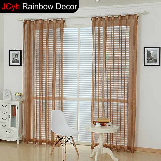 Kitchen Curtains Tulle European Window Blinds Curtain Pink Voile Burlap Sheer Cortinas Bedroom For