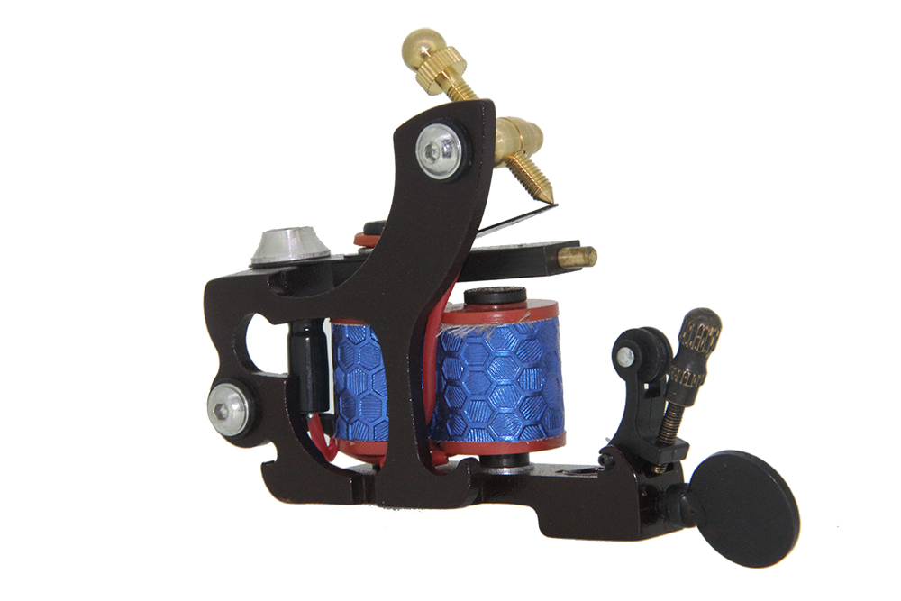 Top Quality Custom Coil Tattoo Machine Kit Wire Cutting Pure Iron Core Tattoo Machine Guns Coil For Liner Free Shipping TM-199 top quality customs handmade tattoo machine kit 10 wraps coil zinc alloy machine for liner and shader free shipping tm 1114