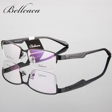 Bellcaca Eyeglasses Spectacle Frame Men Computer Optical Glasses Prescription For Male Transparent Clear Lens Armacao de BC099