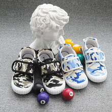 2019 Children Camouflage Casual Shoes Boys Print Canvas Breathable Flat Student Kids Rubber Sport