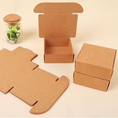 100pcs New US imports of kraft paper boxes Gift linerboard candy and other packaging cases