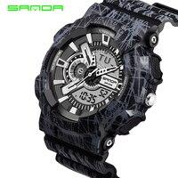 SANDA New Men S Watch Men S Camouflage Digital Watch Men S Sports Watch Men S