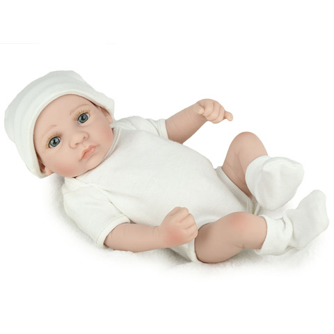 NPKDOLL 10 inch lifrlike bebe toy Mini Reborn Babies Boy Realistic Full Vinyl Handcraft Newborn Baby Doll Kids Christmas Gift Islamabad