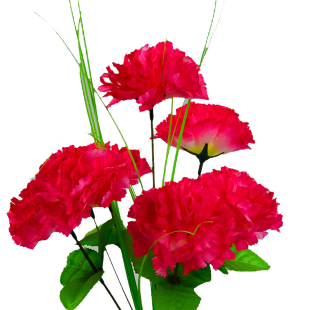 Artificial Imitation Silk Flower Party Birthday 9 Heads Carnations ...