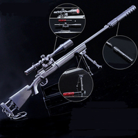 PUBG game gun toy M24 sniper gun 27 cm simple disassembly and assembly Alloy Weapon Model
