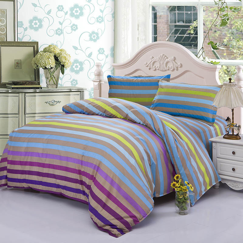 hot sale 4pcs bedding set duvet cover bed sheet pillow case quilt cover spread clothes cotton