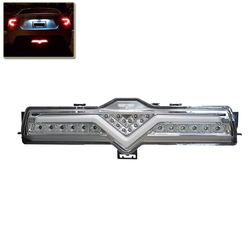 Led Rear Bumper Reverse Brake Fog Light Lamp Assembly Chrome Housing For Scion FR-S For Subaru BRZ For Toyota 86 Car Styling