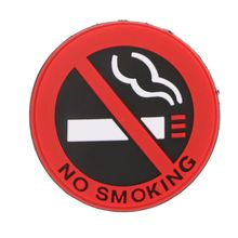 No Smoking Sign Tips Warning Logo Stickers Car Taxi Door Decal Badge Glue Sticker Car Styling warning caution mark anti collision prevention reflective open logo ho car auto motorcycle door trunk decal sticker car styling