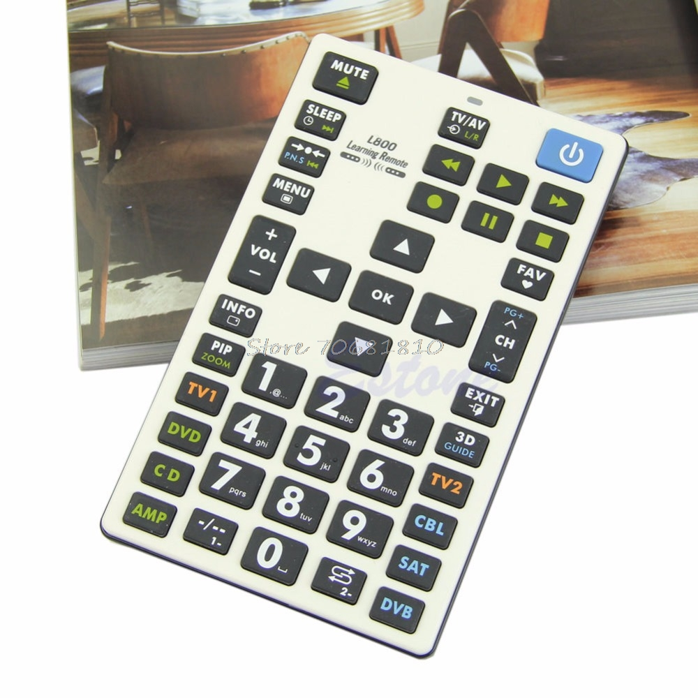 Universal Learning Remote Control Controller 8 Devices L800 Fr TV SAT DVD New Drop Shipping universal smart remote control controller with learn function for tv dvd sat cbl drop shipping