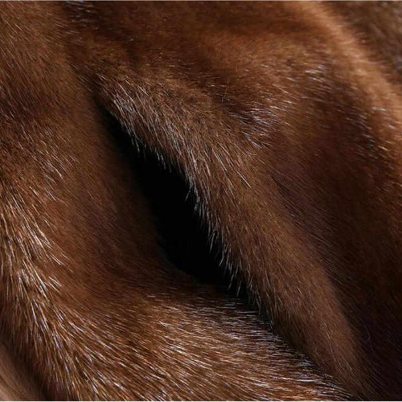 גבוהה פו מינק פרווה מעיל נשי 2018 חדש בתוספת גודל 6XL בינוני אורך חורף סלעית חולצות נשים לעבות חום מינק פרווה מעילי H556
