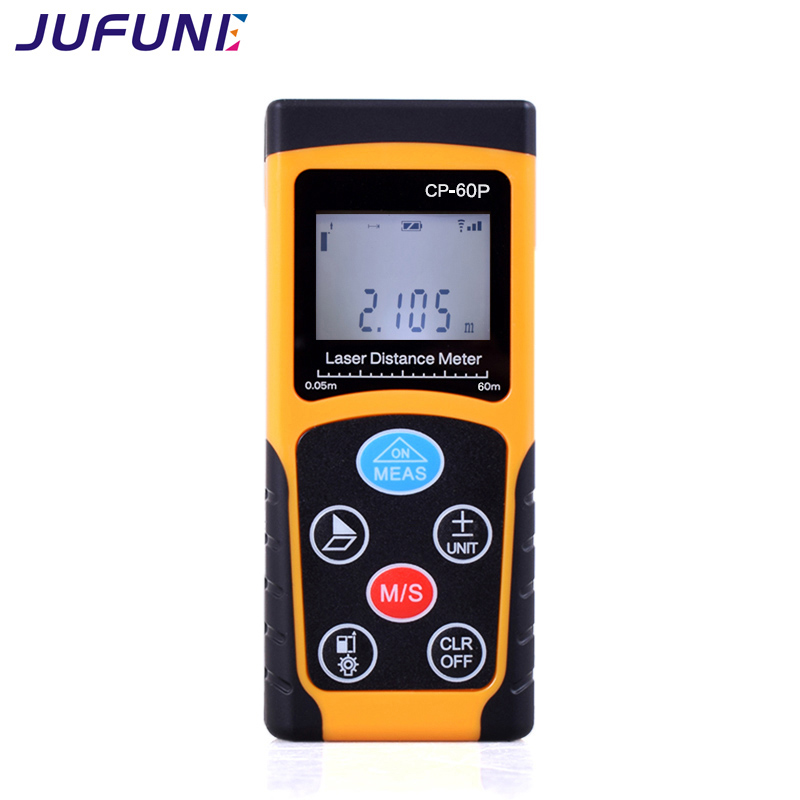 Jufune CP-60P 60m Medidor de distancia láser mini Medidor de cinta digital