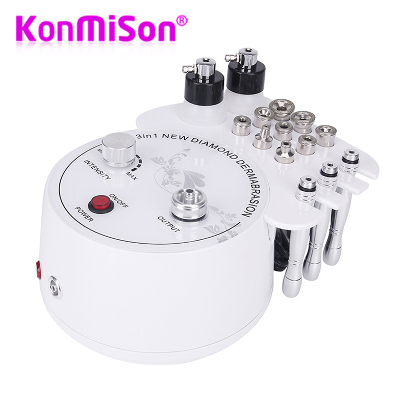 Multifunction Dermabrasion Machine 3 In 1 With Sprayer Vacuum For Mottle Spot Removal Microdermabrasion Facial Machine Diamond