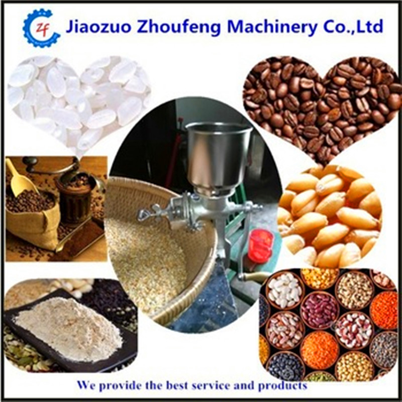 Multifunction corn flour mill machine mini home use manual peanut coffee beans grinder grinding machine ZF multifunction corn flour mill machine home use manual maize rice soybean peanut coffee cocoa beans grain grinder