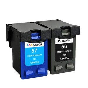 Image 5 - YLC REPUESTOS DE 56XL 57XL Compatible para HP56XL cartuchos de tinta HP56 56XL para HP Deskjet serie 5508, 5510, 5510v 5510xi 5515 C6656A C6657A priter