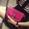 Мода 2016 женщин japanned кожа цепь небольших сумки женские мини сумки сумка J-7856