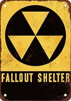 Fallout Shelter Vintage Look Reproduction Metal Sign 12x18,Street PublicMetal Sign,Hotel Wall Painting Plaque Room Home Decor