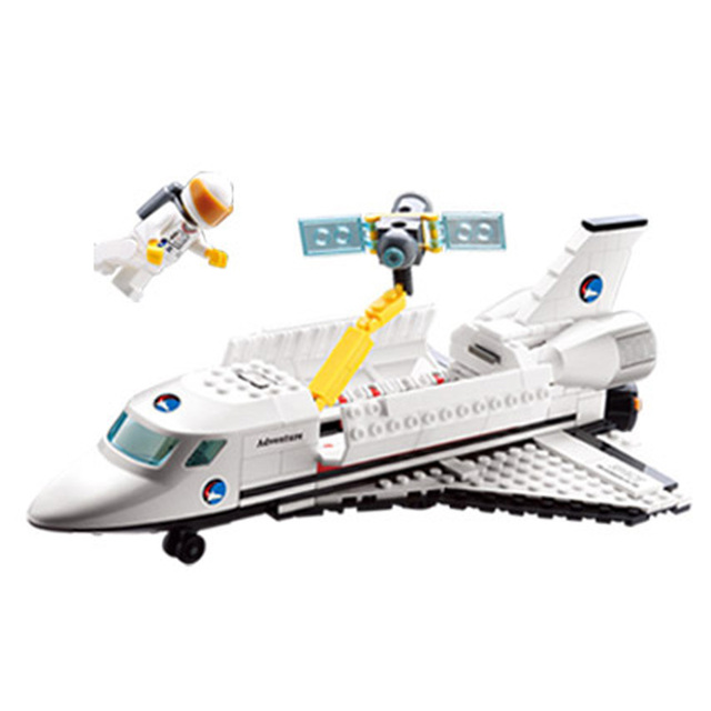 Kazi Block Sts Endeavour OV-105 Toys Kids Educational Exploration-satellite Spaceship Door Can Switch Fashion Best Gift