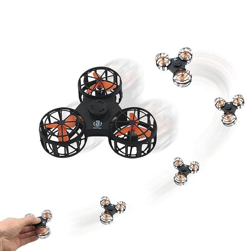 Глобальный Drone Летающий Непоседа счетчик автоматический вращающийся мини RC Quadcopter летающие Прядильный механизм игрушки интересные новинки ...