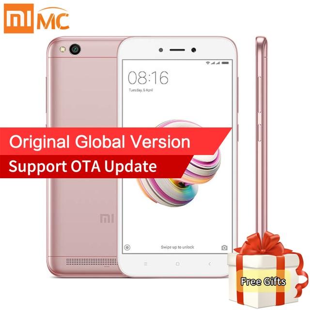 Оригинальный Xiaomi Redmi 5A 2 ГБ 16 ГБ Глобальный Версия Мобильные телефоны Snapdragon 425 4 ядра 5.0 дюймов 13.0mp Камера 3000 мАч MIUI 9 ce
