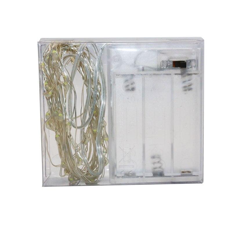 100x Led Tiny Micro Battery String Lights Copper Wire Bedroom Fairy - Мерекелік жарықтандыру - фото 3