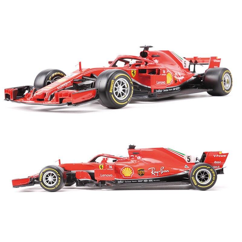 BBurago 1 18 F1 2018 SF71H Formula One Diecast Model Simulation alloy car model Toy For