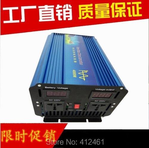 цена на wind solar hybrid inverter 4000W pure inverter DC12V 24V to AC100-120V AC220-240V. 4000W DC a AC convertitore sinusoidale pura