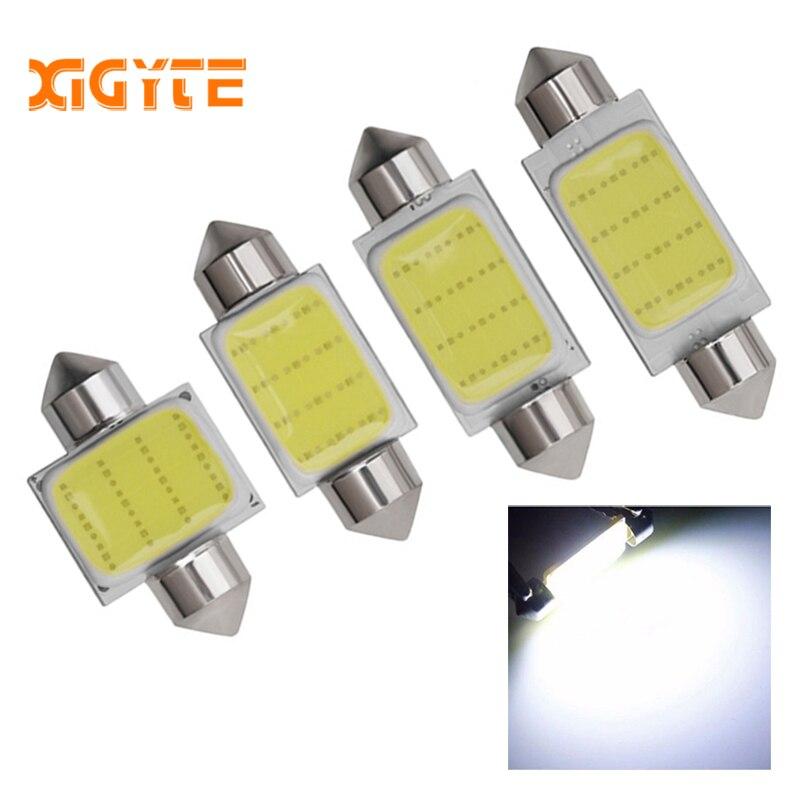 2Pcs//Set COB 39mm 120LM White Bulb Festoon Interior Dome LED Light Car Lamp Bulb