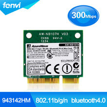 300Mbps BCM943142HM wifi bluetooth Adapter Broadcom BCM943142 802.11b/g/n Wi-fi+ BT 4.0 half Mini PCI-e Wireless Wlan card