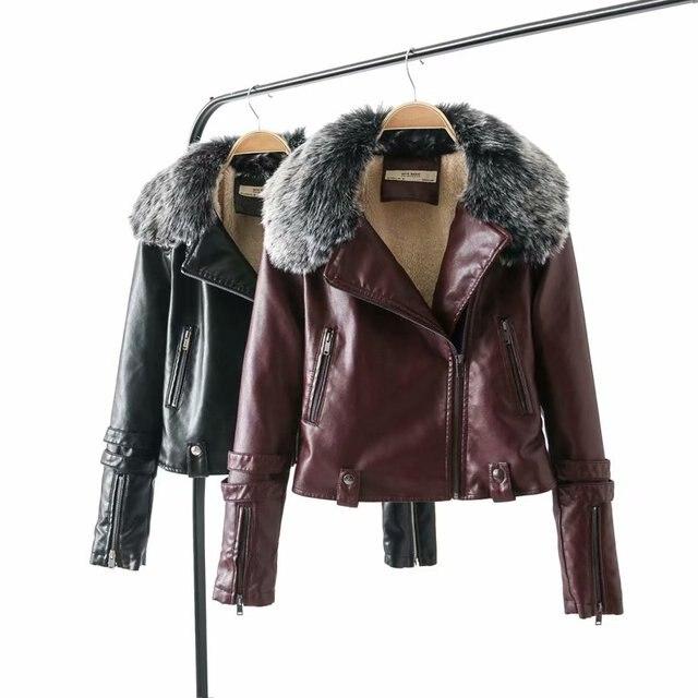 80314b1c617 2019 chaqueta de piel de cordero de imitación de Invierno para mujer  chaqueta de invierno de