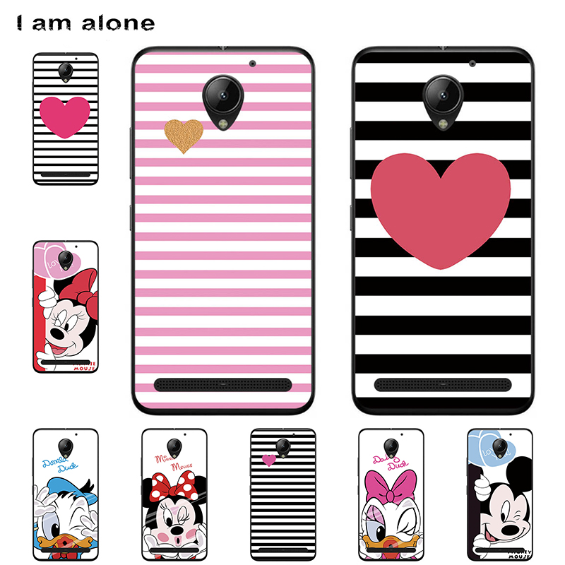 I am alone <font><b>Phone</b></font> <font><b>Cases</b></font> For <font><b>Lenovo</b></font> Vibe <font><b>C2</b></font> 5.0 inch Soft TPU Mobile Fashion Color Cover For Vibe <font><b>C2</b></font> <font><b>k10a40</b></font> Bags Free Shipping image