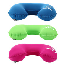 Creative Design Travel Inflatable U Shaped Pillow Office/Flight Head Neck Rest Air Cushion Soft Pillow Bolster 3 Colors(China)