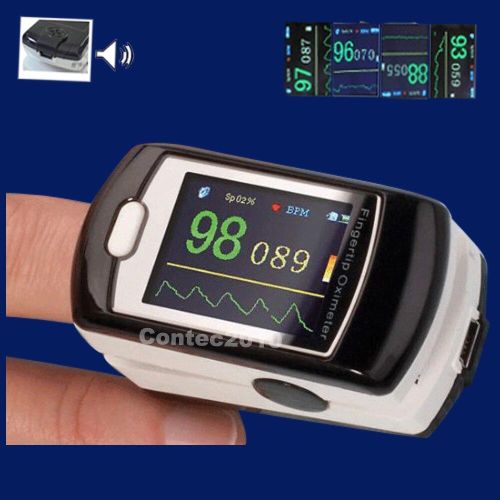 CMS50E 1.3 A Colori OLED Contec Ricaricabile Pulsossimetro con il software Oximetro De Dedo Pulsioximetro