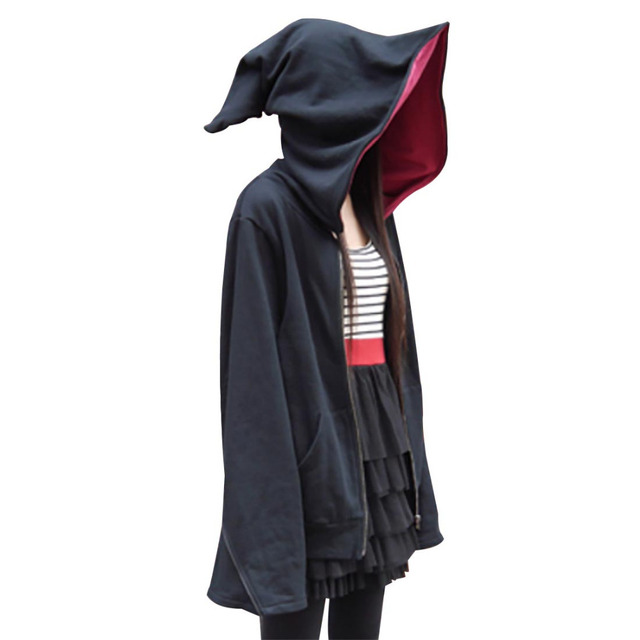 mystical magic world black wizard hoodie casual wear witch costume cool street hooded jacket adult halloween - Mystical Halloween Costumes