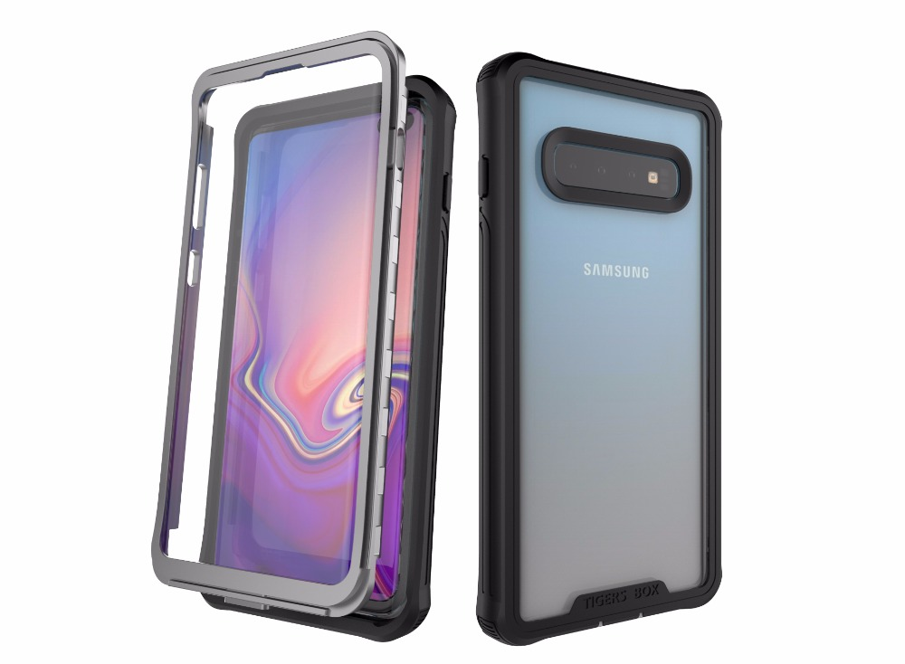Armor 360 Full Protect For Samsung Galaxy S10 S10 Plus Case Cover Transparent PC+TPU+Silicon Phone Case Shockproof Outdoor Coque