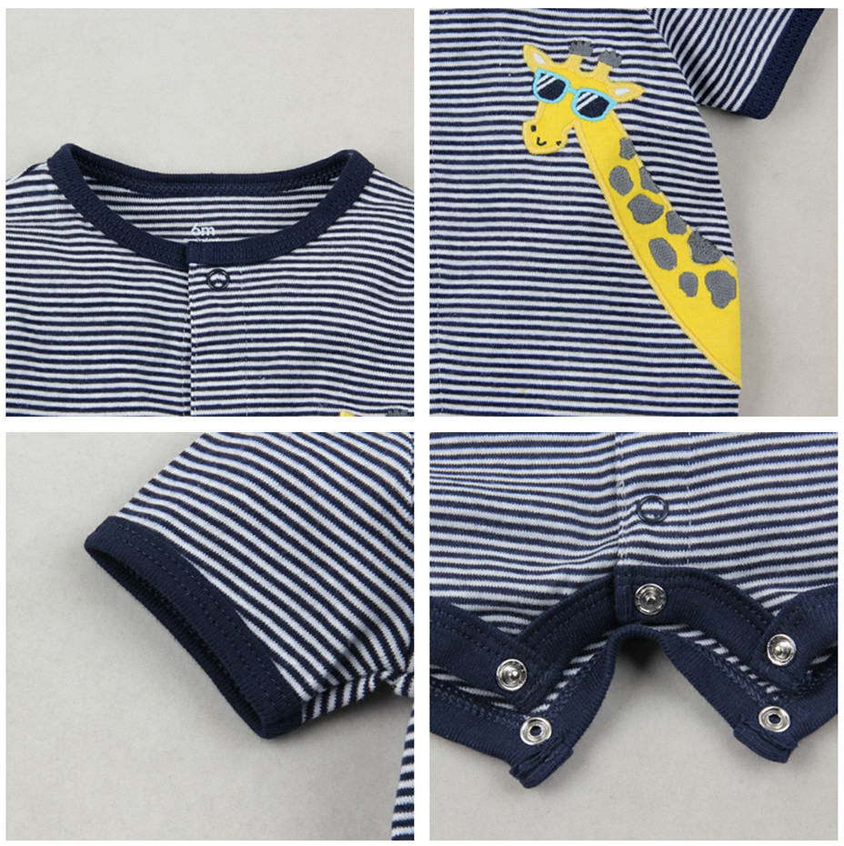 HTB1pNS9gpkoBKNjSZFkq6z4tFXaO 2019 official store Summer boys baby clothing Short Sleeved Jumpsuit Newborn Romper Baby Boy Clothes infant roupas Baby Rompers