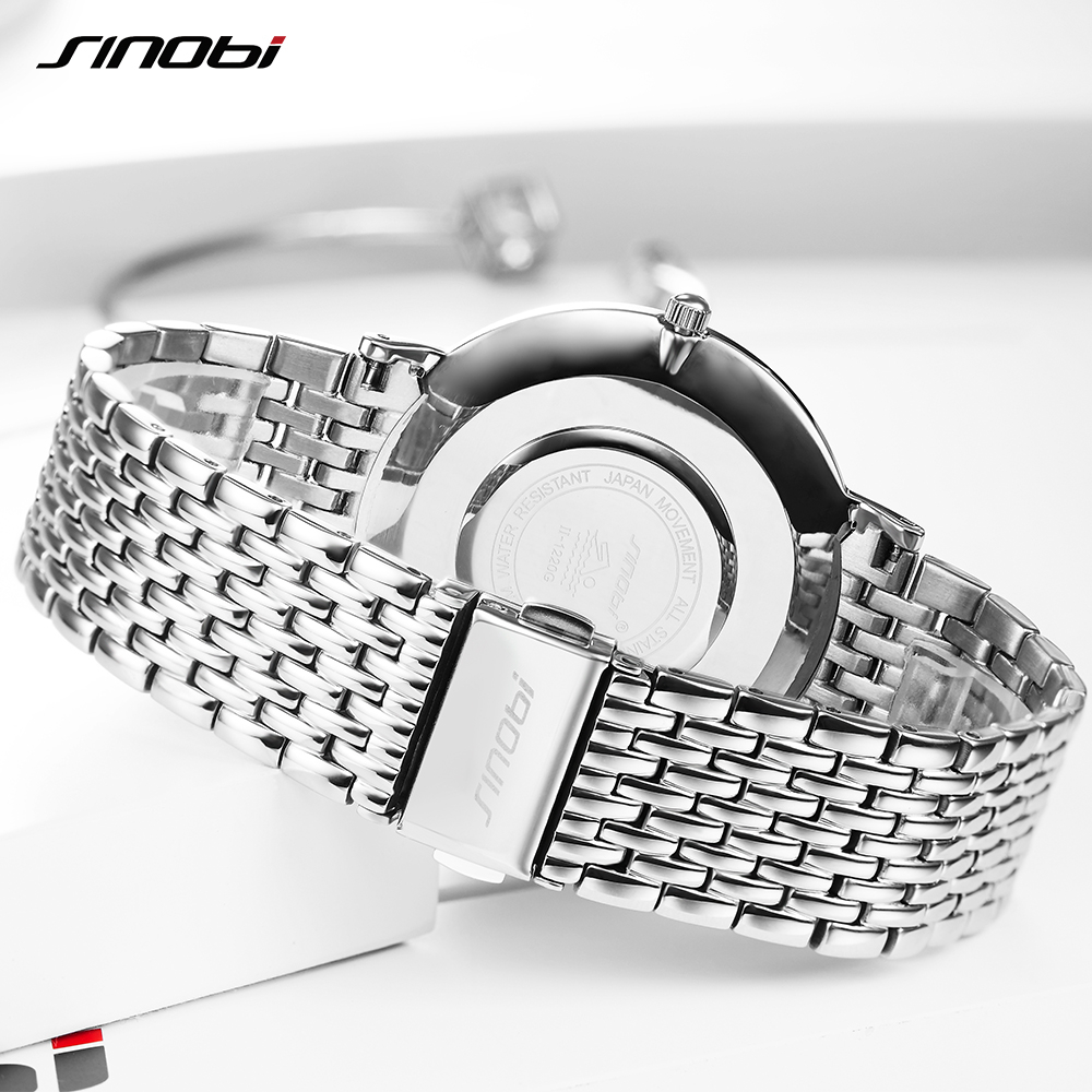 SINOBI Ladies Quartz Women Watch Fashion Business Watches Women Lover's Top Brand Luxury Watch Relogio Masculino-in Women's Watches from Watches    2