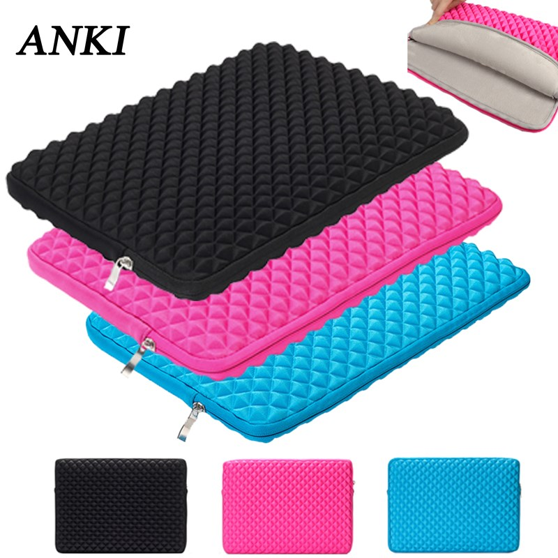 ANKI Shockproof Sleeve Notebook Case 15.6 15 For Dell Samsung Macbook Air Retina Pro 11 12 13 15.4 Cover Women Men Laptop Bag