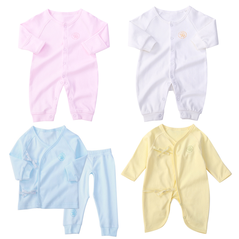 цена на Baby Rompers Long Sleeve Winter Autumn 100% Cotton Baby Boy Girl Clothes 4pcs Baby Jumpsuits Clothing Body Suits Brand