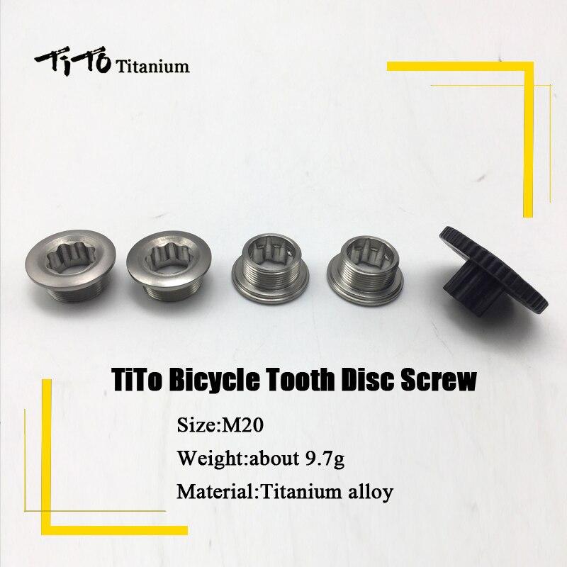 Tito Titanium aleación bicicleta cubierta M20 tornillo bielas bicicleta brazo de fijación tornillo de rosca con manivela Cap piezas de bicicleta