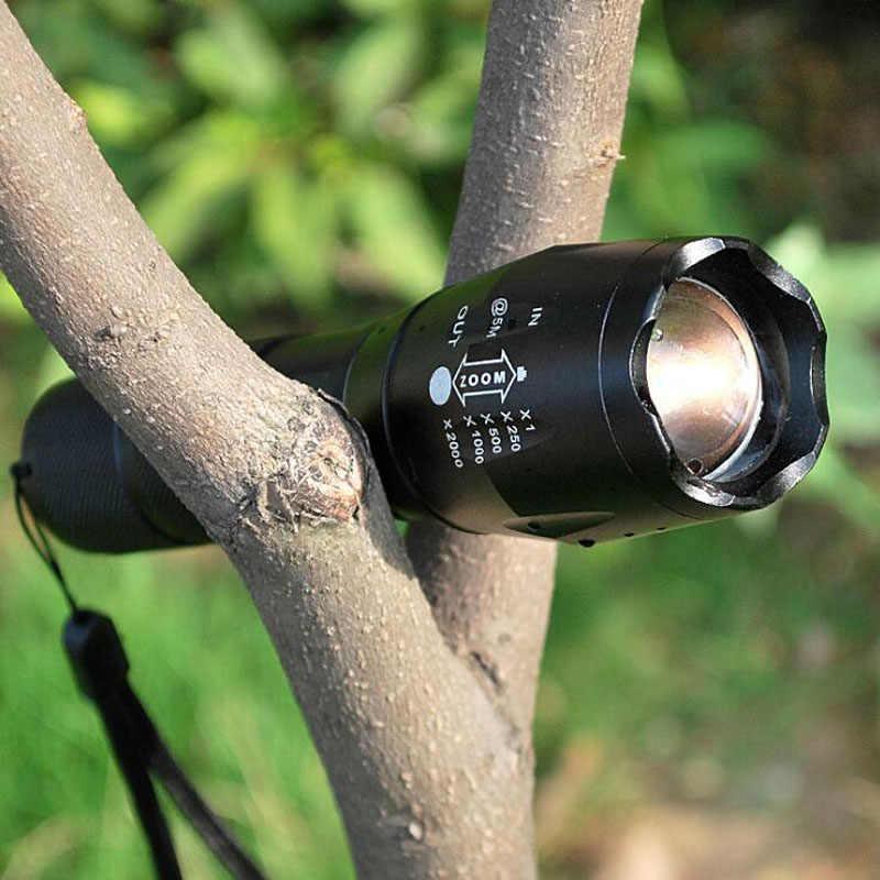 XML T6 Senter LED Q5 Mini Obor Lanterna Taktis Senter Zoomable Tahan Air Protable Outdoor Camping Sepeda Lampu