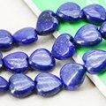 15mm Moda Lapis lazuli Perlas Corazón Accesorios Artesanías de Bricolaje Cuentas Sueltas Jasper Jade Joyas De Piedra Fabricación de La Joyería Diseño 15 pulgadas
