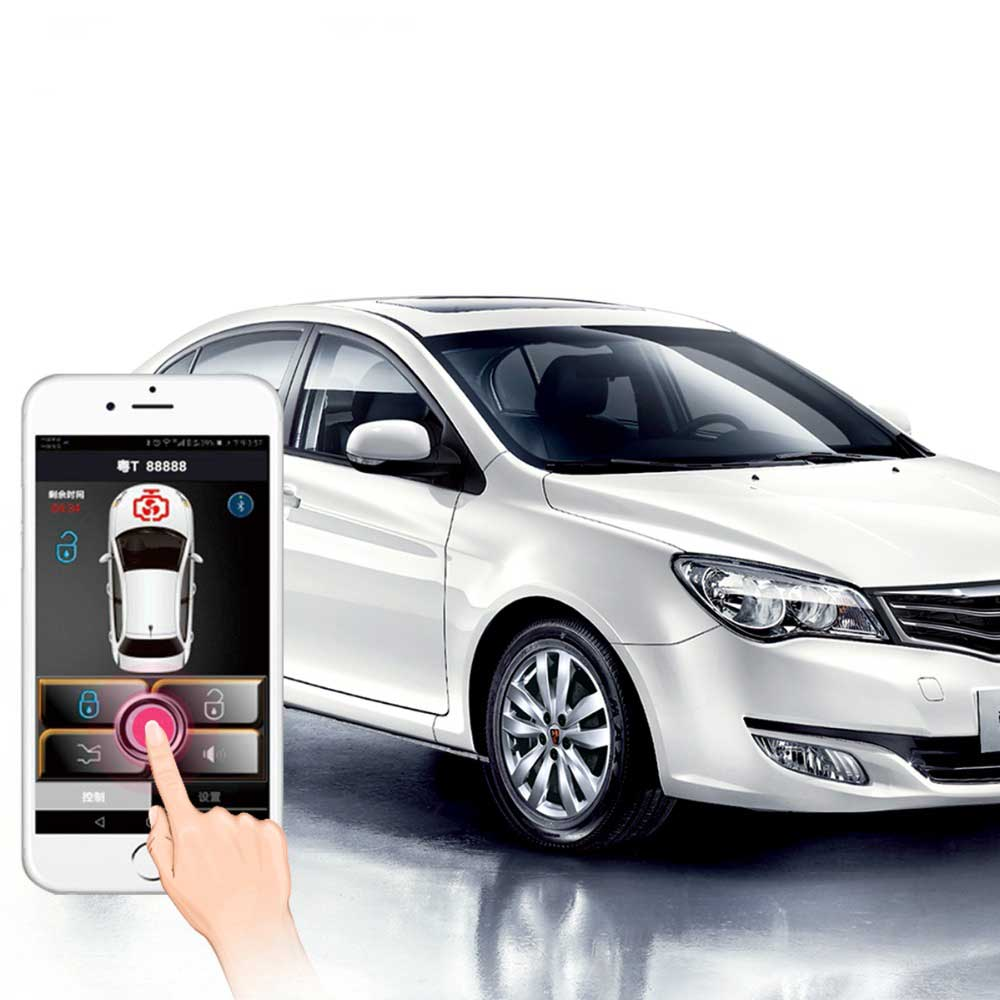 Auto Smartphone  Start Stop Engine System With Bluetooth Keyless Entry  Car Security Alarm System Central Locking/Unlock
