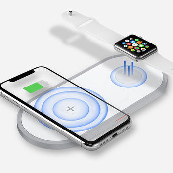 Qi Wireless Charger Pad 10W Fast Charger for iPhone 8 X XR Samsung S8 S9 Wireless charging pad for Apple Watch 4 3 2 1