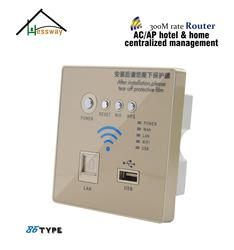 USB embedded installation AC+AP coverage mode wifi router repeater for hotel villa home