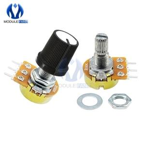 5PCS 3P WH148 Rotary Potentiometer Linear Taper 3 Pin Potentiometer 3PIN For Arduino With Cap 1K 5K 10K 20K 50K 100K 500K Ohm