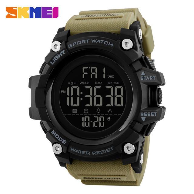 SKMEI Men's Sports Watch Fashion Digital Mens Watches Waterproof Countdown Dual Time shock Wristwatches Relogio Masculino
