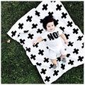 Os Recém-nascidos do bebê Cama Cobertor Swaddle Cobertor Do Bebê 90x115 árvore De Natal Cruz Moda de Flanela Receber Cobertores Swaddle
