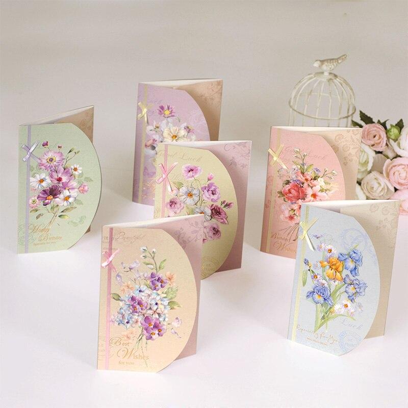 6 sets of birthdaymulti purpose greeting card set