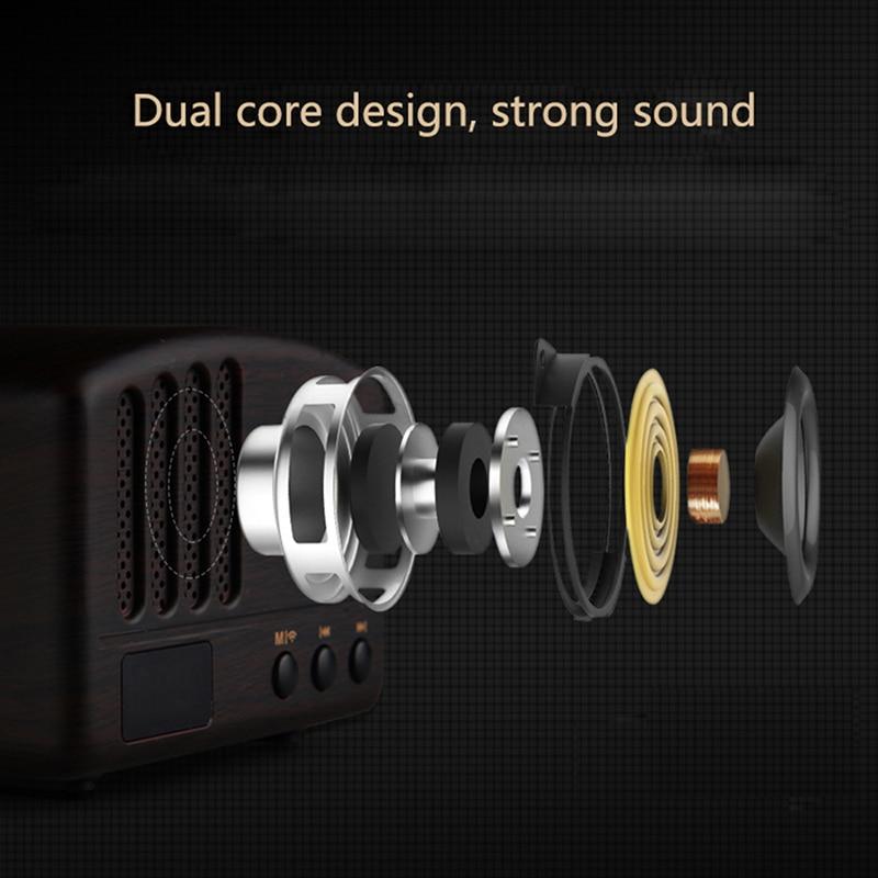 Wireless Bluetooth Retro Speaker Rechargeable Portable Wireless Music Soundbar TF USB Flash Disk AUX FM Radio Bluetooth Speake (3)